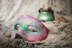 Máscara venetian feito a mão do estilo fotografia de stock