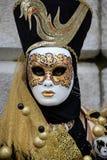 Máscara Venetian maravilhosa em Veneza, carnaval imagem de stock