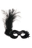 Máscara Venetian preta do carnaval Fotografia de Stock Royalty Free