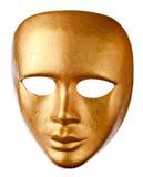 Máscara Venetian velha isolada no branco Foto de Stock Royalty Free