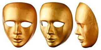 Máscara Venetian velha isolada no branco Imagens de Stock