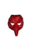 Máscara Venetian vermelha Fotos de Stock