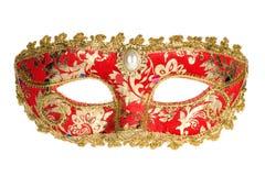 Máscara Venetian vermelha do carnaval Foto de Stock