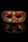 Máscara Venetian vermelha do carnaval Foto de Stock Royalty Free