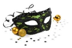 Máscara verde del carnaval fotografía de archivo
