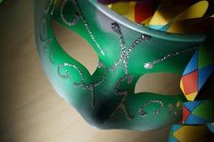 Máscara verde do carnaval foto de stock royalty free