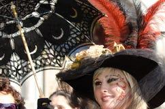 Máscara vermelha bonita em Veneza Imagem de Stock Royalty Free