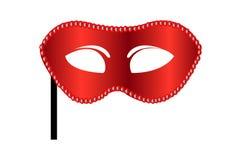 Máscara vermelha do carnaval Imagens de Stock