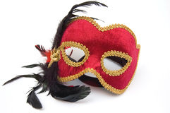 Máscara vermelha do carnaval Foto de Stock Royalty Free