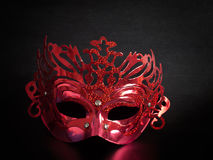 Máscara vermelha, fantasia Fotografia de Stock Royalty Free