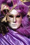 Máscara violeta en el carnaval de Venecia 2011 Imagenes de archivo