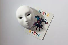Máscara y bromista del yeso Fotografía de archivo