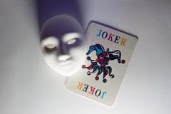 Máscara y bromista del yeso Imágenes de archivo libres de regalías