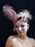 Máscara y collar Foto de archivo libre de regalías