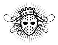 Máscara y corona Foto de archivo