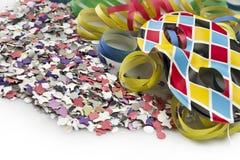 Máscara y flámula del carnaval Fotos de archivo libres de regalías