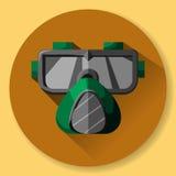 Máscara y respirador - equipo protector para el trabajo en el facto libre illustration
