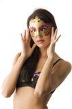 Máscara y ropa interior Foto de archivo libre de regalías