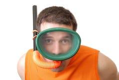 Máscara y tubo respirador Imágenes de archivo libres de regalías