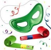 Máscara y ventiladores del partido libre illustration