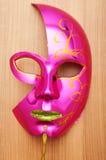 Máscaras adornadas aisladas en el blanco Fotos de archivo