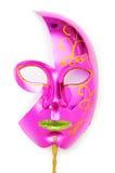 Máscaras adornadas aisladas en el blanco Imagenes de archivo