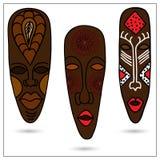 Máscaras africanas stock de ilustración