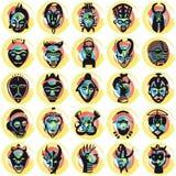 Máscaras africanas Imagens de Stock