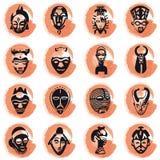 Máscaras africanas ilustração royalty free