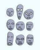 Máscaras africanas ajustadas Foto de Stock