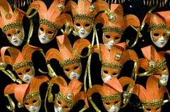 Máscaras alaranjadas Foto de Stock Royalty Free