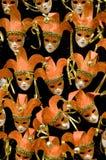 Máscaras alaranjadas Fotos de Stock Royalty Free