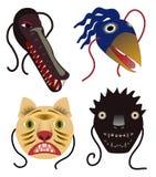Máscaras animais Foto de Stock Royalty Free