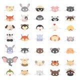 Máscaras animais ajustadas ilustração do vetor
