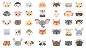 Máscaras animais ajustadas ilustração royalty free