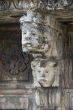 Máscaras barrocas en Catania Sicilia Foto de archivo libre de regalías