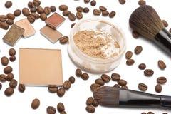 Máscaras do bege dos cosméticos Imagens de Stock