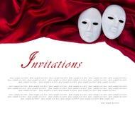 Máscaras blancas Foto de archivo libre de regalías