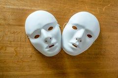 Máscaras brancas Imagem de Stock Royalty Free
