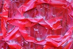 Máscaras brilhantes do vermelho escarlate das listras na superfície textured fotografia de stock royalty free