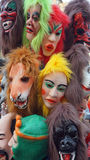Máscaras coloridas del carnaval Fotos de archivo libres de regalías