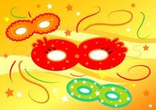Máscaras coloridas do carnaval Foto de Stock
