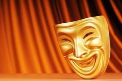 Máscaras com o conceito do teatro Imagens de Stock