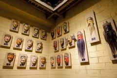 Máscaras da nacionalidade de Zhuang, China de Shigong Opera Fotografia de Stock Royalty Free