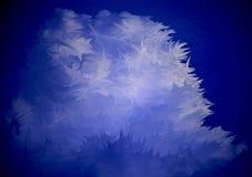 Máscaras da nuvem inchado abstrata azul Foto de Stock