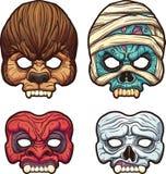 Máscaras de Dia das Bruxas Imagens de Stock