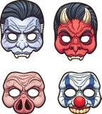 Máscaras de Dia das Bruxas ilustração do vetor