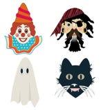 Máscaras de Dia das Bruxas da criança Foto de Stock Royalty Free