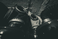 Máscaras de gás 2 Imagem de Stock Royalty Free