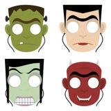 Máscaras de Halloween Fotos de archivo